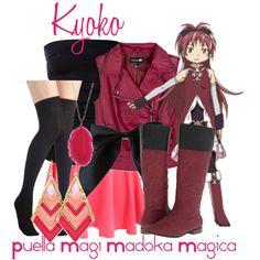 """Kyoko Sakura, from Puella Magi Madoka Magica"" by blackrabbitmegapig on Polyvore"