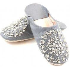 Babouches femmes paillettes grises de type dit Cherbil Cuir Gris,  Babouches, Paillettes, Fantaisie ee12385bc2