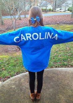 Love spirit jerseys especially a dark blue tee color that says carolina topped with bean boots!!! Creds:preppyfashionistaa