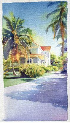 Eleuthera- watercolor by M. Merk Najaka