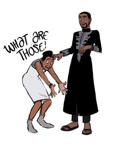 Shuri and T'Challa<<< I was cringing but laughing during that scene... oh Shuri