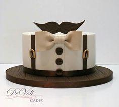 New Cake Art Fondant Ideas Ideas Fondant Cupcakes, Cupcake Cakes, Baking Cupcakes, Cup Cakes, Birthday Cakes For Men, Cake Birthday, Men Birthday, Birthday Games, Moustache Cake