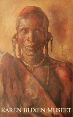 An old Kikuyu - artist: Karen Blixen, Denmark.