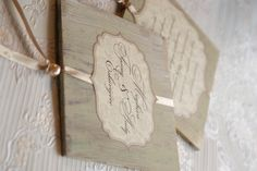 vintage invitation cards from wood
