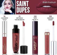 Lime crime liquid lipstick dupes in the shade Saint // Kayy Dubb ♡