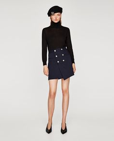 ZARA - WOMAN - SKIRT WITH GOLD BUTTONS