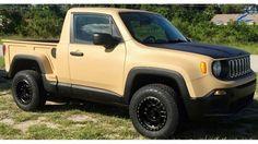 Custom Jeep Renegade 'Comanche' pickup hits Ebay