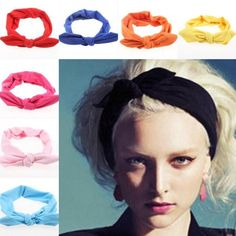New Fashion Korean Style Rabbit Ear Headscarf Elastic Scrunchy Headbands For Women Hair Accessories Bow Hairband, Crystal Headband, Lace Headbands, Headbands For Women, Wedding Dress Accessories, Hair Accessories For Women, Bandana Curls, Bandana Crafts, Yoga Headband