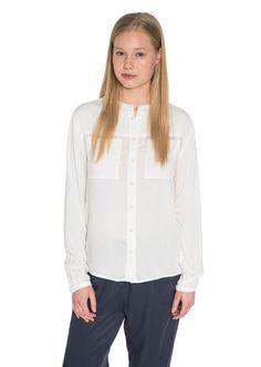 Campus, Women, Bekleidung, Blusen, Langarm-Bluse, aus reiner Viskose