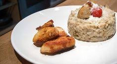 Découvrez cette succulente recette de risotto aux champignons accompagné de poulet grillé.