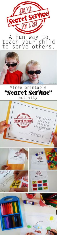 "The ""Secret Service"" Activity: A Lesson in Kindness *Adorable activity printables"
