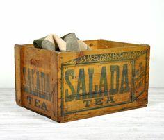 Vintage Industrial Wood Crate