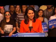 Rep. Tulsi Gabbard rocks the house with Aloha at Sanders rally in Miami - YouTube Aloha to you too #TulsiGabbard