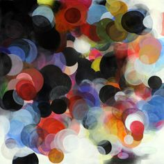 "Circles#2  by Paula Baader - 59"" sq"