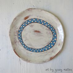 handmade ceramic plate by Giosy Matteu #pottery