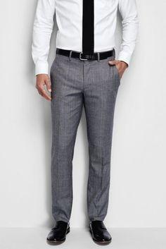 5117ecc94d Men s Slim Fit Wool Flannel Trousers from Lands  End