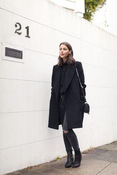 Black in winter fashion.