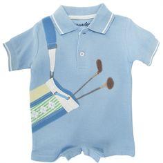 32bec9acff1 Kitestrings by Hartstrings Infant Boy Polo Golf Bag romper JAIME!!! Ethan  needs this