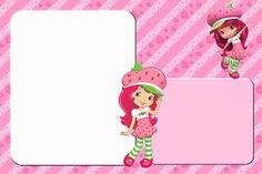 New Strawberry Shortcake - Full Kit with frames for invitations, labels for snacks, souvenirs and pictures! Baby Scrapbook, Scrapbook Pages, Strawberry Shortcake Party, Princess Peach, Disney Princess, Nova, Class Decoration, Scrapbooks, Clip Art