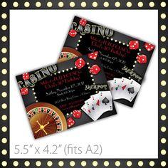 Casino Party Invitations . PRINTABLE . Casino Night