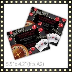 Casino Party Invitations . PRINTABLE . Casino Night