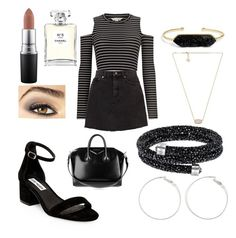 """""""Untitled #715"""" by sheafleming195 on Polyvore featuring Miss Selfridge, Steve Madden, MAC Cosmetics, Chanel, Avon, Kendra Scott, BaubleBar and Givenchy"""