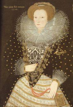 """Anonimo - Lady Philippa Speke - 1592 - Particolare Nella mano sinistra un""""prayer-book"""". British Museum - Londra"""