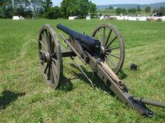 Reproduction civil war era carriage holding a 10 pound Parrott rifle.