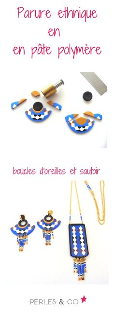 Ethnische Parure in Fimo und Miyuki Delicas / Jazz Photo Source Diy Jewelry Holder, Diy Jewelry Making, Polymer Clay Art, Polymer Clay Earrings, Polka Dot Earrings, Tassel Earing, Outfit Des Tages, Earring Tutorial, Diy Clay