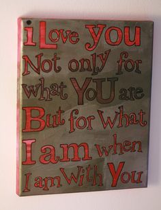 I love you on canvas