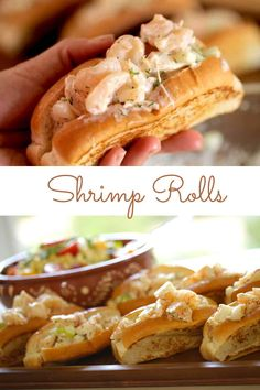 Learn how to make my New England Style Shrimp Rolls, complete with a split-top bun. Serve with my easy corn salad! Everything can be made a day ahead and all you have to do before serving is toast the buns! The perfect hot weather meal for summer entertaining. #shrimprollsrecipe #shrimprollssandwich #easyshrimprolls #entertainingwithbeth Rolled Sandwiches, Wrap Sandwiches, Fish Fry Party, Finger Food Appetizers, Finger Foods, Hot Weather Meals, Shrimp Rolls, Pescatarian Recipes, Seafood Dishes