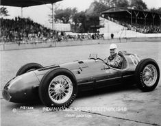 Jimmy Jackson drives the front wheel dirve Keck in the 1948 Indy 500.
