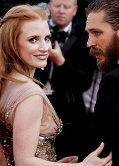 tom hardy and jessica chastain Classy People, Hooray For Hollywood, Jessica Chastain, Tom Hardy, Celebs, Celebrities, Classy And Fabulous, Woman Crush, Actors & Actresses