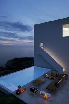 Contemporary cliff-top beach house with uninterrupted sea views and an infinity pool to die for