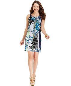 $29.49 Macy's Style&co. Floral-Print Blouson Dress
