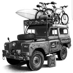 Land Rover 88 Serie II A SWB Adventure. So nice cartoon.