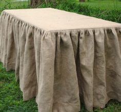 Formal Barn Party Rustic burlap shirted tablecloth