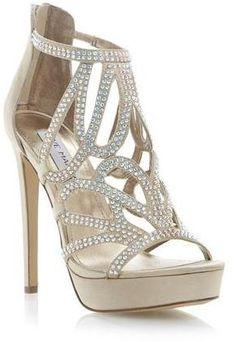 STEVE MADDEN SINGER - CHAMPAGNE Diamante Strappy #Heels