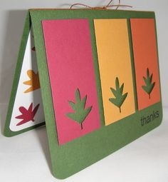 Uses Stampin' Up!'s leaf punch, made by me!