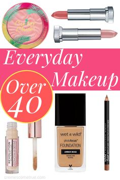 Everyday Makeup Over 40 - Everday makeup that wears beautifully on over 40 skin. All found at the drugstore! Everyday makeup over 40 that looks natura. Natural Lipstick, Natural Makeup, Natural Beauty, Wet N Wild, Concealer, Makeup Over 40, Glam Look, Combination Skin Care, Exfoliating Body Scrub