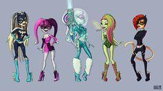 Monster High x Batman. by asieybarbie
