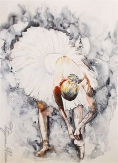 165 x 117  Watercolor Print   Back stage by TatyanaIlieva on Etsy, $39.00