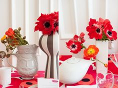Floral Print Wedding Ideas {Eclectic} Floral Print Wedding Ideas {Eclectic} #marimekko #greyandwhite #red #anemones #floralprint #weddingflowers Photography by @Mikkel Paige Planning by @Roey Mizrahi Floral Design by @Patricia W/  Karma Flowers & Trunk Vintage Rentals