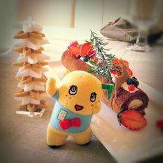 ふなっしーと珠子先生のクリスマスケーキ