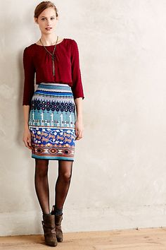 Anthropologie HWR llama knit sweater skirt S Bluse Outfit, Full Skirts, Sweater Skirt, Diva Fashion, Petite Fashion, Get Dressed, Autumn Winter Fashion, Fall Fashion, Style