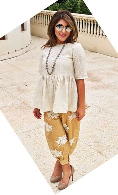 Dhoti pants are high on trend right now as they are comfortable and stylish! Here are 6 different outfit ideas for women to style dhoti pants with. Kurta Designs, Kurti Designs Party Wear, Blouse Designs, Churidar, Anarkali, Lehenga, Patiala, Sarees, Indian Attire