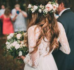 floral crown boho wedding inspiration