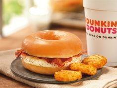 Dunkin' Donuts is testing out a glazed donut breakfast sandwich... oh boy here we go