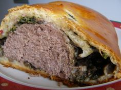 """Ground Beef """"Wellington"""" and it actually looks good (even though I'm not a big ground meat fan)"""