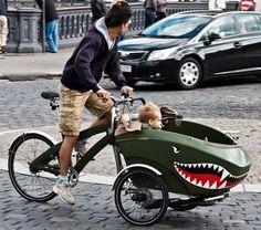 Bakfiets Olanda #shark / Bici con rimorchio Olandesi #squalo